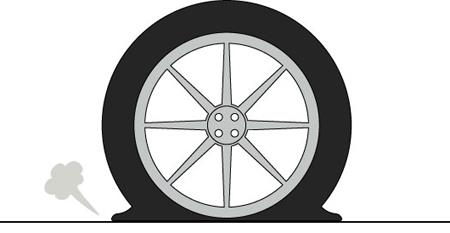 パンクによるタイヤのダメージを防ぐには?(TMPSで空気圧監視)