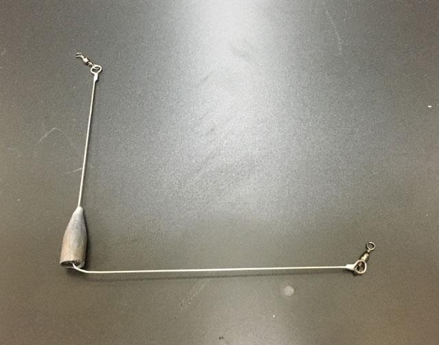 バレットシンカーを使用した天秤の自作(固定式)
