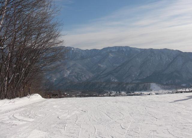 スキー場に着く前に