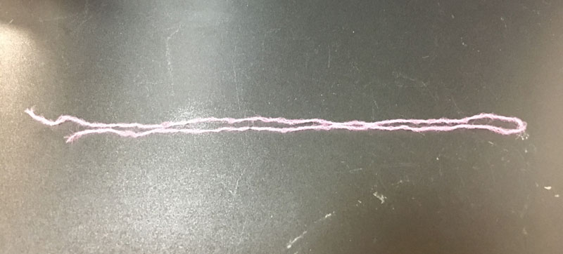 ウイリー糸をカット
