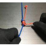 枝針の結び方-エダスを短く結ぶ