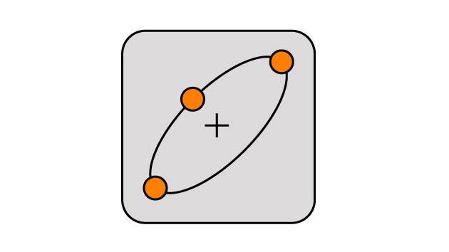 DraftSight-楕円の書き方