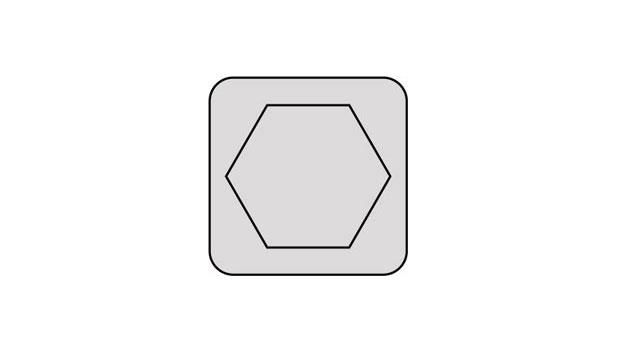 DraftSightで六角形を書く-ポリゴン(Polygon)コマンド