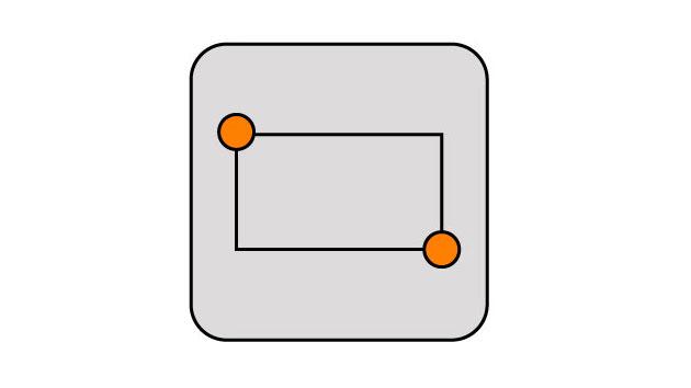 DraftSight-四角形(Rectangle)コマンド